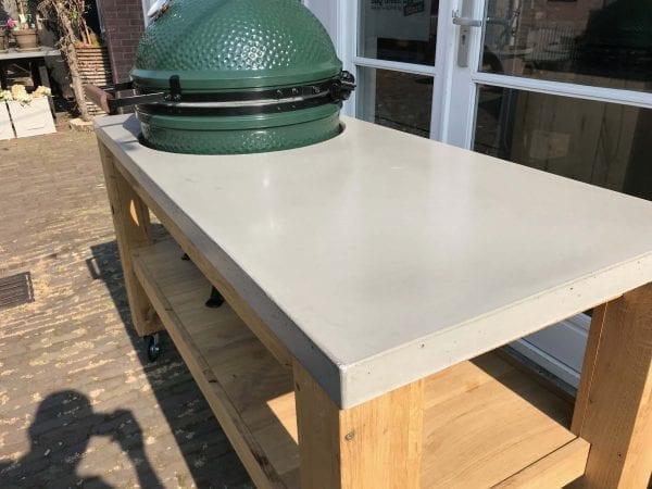 eikenhout tafel beton blad big green egg