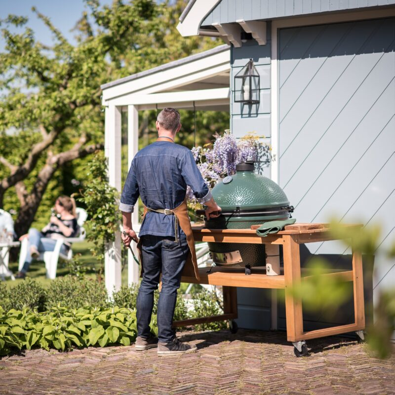 Big Green Egg XL met Acacia tafel-3