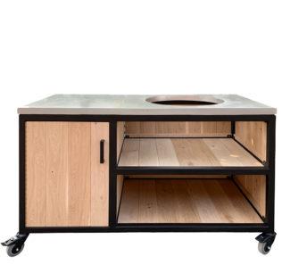Big-Green-Egg-Kamado-Tafel-Steel-&-Oak-Design