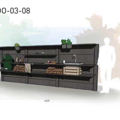 Lichtgrijs: €8.300 Antraciet: €9.235. De prijs is inclusief transport, installatie en BTW. Exclusief BBQ en accessoires.