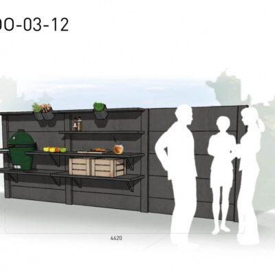 Lichtgrijs: €6.060 Antraciet: €6.770. De prijs is inclusief transport, installatie en BTW. Exclusief BBQ en accessoires.