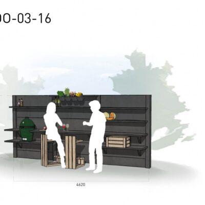 Lichtgrijs: €7.645 Antraciet: €8.590. De prijs is inclusief transport, installatie en BTW. Exclusief BBQ en accessoires.