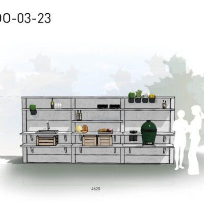 Lichtgrijs: €9.995 Antraciet: €11.160. De prijs is inclusief transport, installatie en BTW. Exclusief BBQ en accessoires.