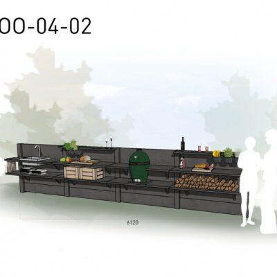 Lichtgrijs: €9.145 Antraciet: €10.140. De prijs is inclusief transport, installatie en BTW. Exclusief BBQ en accessoires.