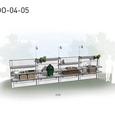 Lichtgrijs: €10.250 Antraciet: €11.415. De prijs is inclusief transport, installatie en BTW. Exclusief BBQ en accessoires.