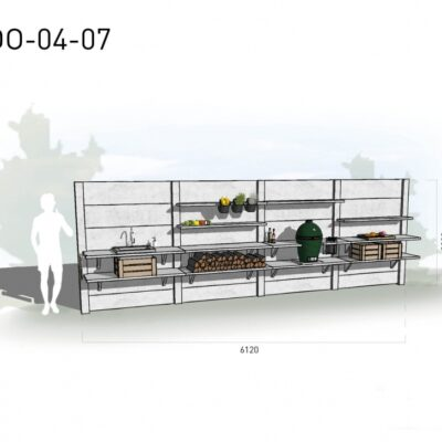 Lichtgrijs: €10.715 Antraciet: €11.920. De prijs is inclusief transport, installatie en BTW. Exclusief BBQ en accessoires.