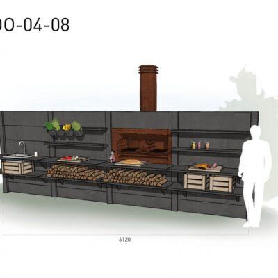 Lichtgrijs: €12.625 Antraciet: €13.800. De prijs is inclusief transport, installatie en BTW. Exclusief BBQ en accessoires.