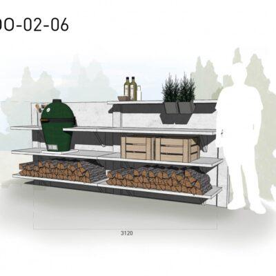 Lichtgrijs: €5.460 Antraciet: €6.150. De prijs is inclusief transport, installatie en BTW. Exclusief BBQ en accessoires.
