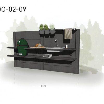 Lichtgrijs: €5.110 Antraciet: €5.630. De prijs is inclusief transport, installatie en BTW. Exclusief BBQ en accessoires.