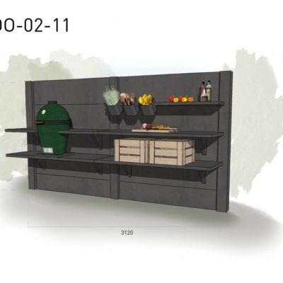Lichtgrijs: €4.380 Antraciet: €4.900. De prijs is inclusief transport, installatie en BTW. Exclusief BBQ en accessoires.