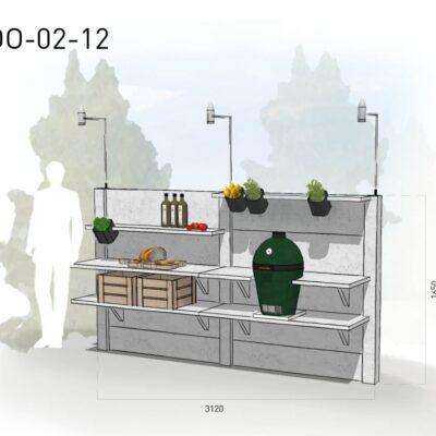 Lichtgrijs: €4.790 Antraciet: €5.375. De prijs is inclusief transport, installatie en BTW. Exclusief BBQ en accessoires.