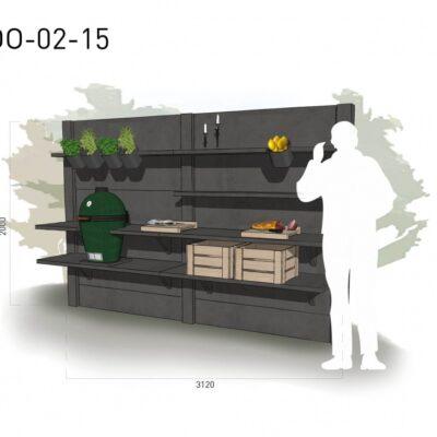 Lichtgrijs: €5.345 Antraciet: €6.015. De prijs is inclusief transport, installatie en BTW. Exclusief BBQ en accessoires.